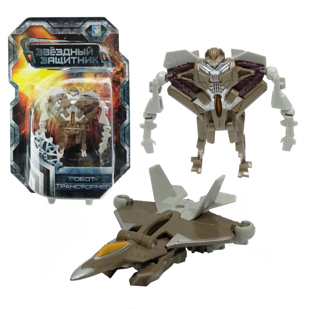 1toy Звёздный защитник, робот-трансформер 9 см, собирается в истребитель, блистер