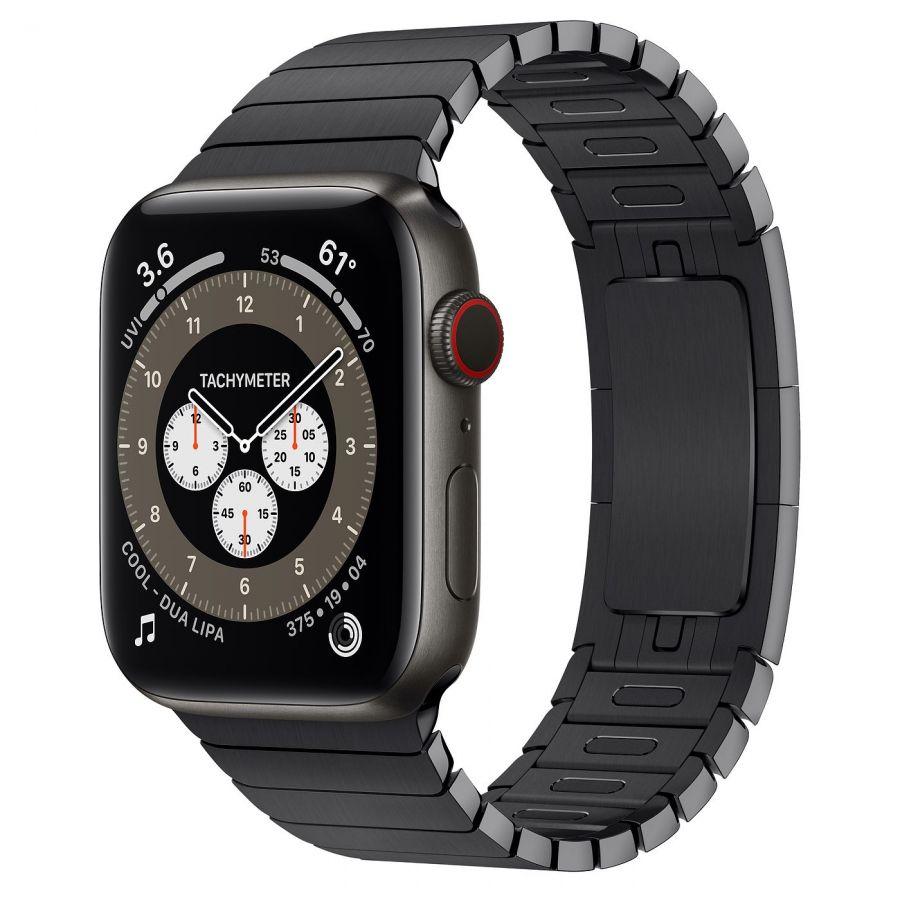 Часы Apple Watch Edition Series 6 GPS + Cellular 44mm Space Black Titanium Case with Space Black Link Bracelet