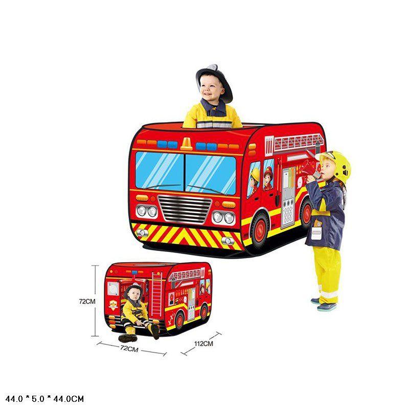 Палатка детская игровая пожарная машина (W545)