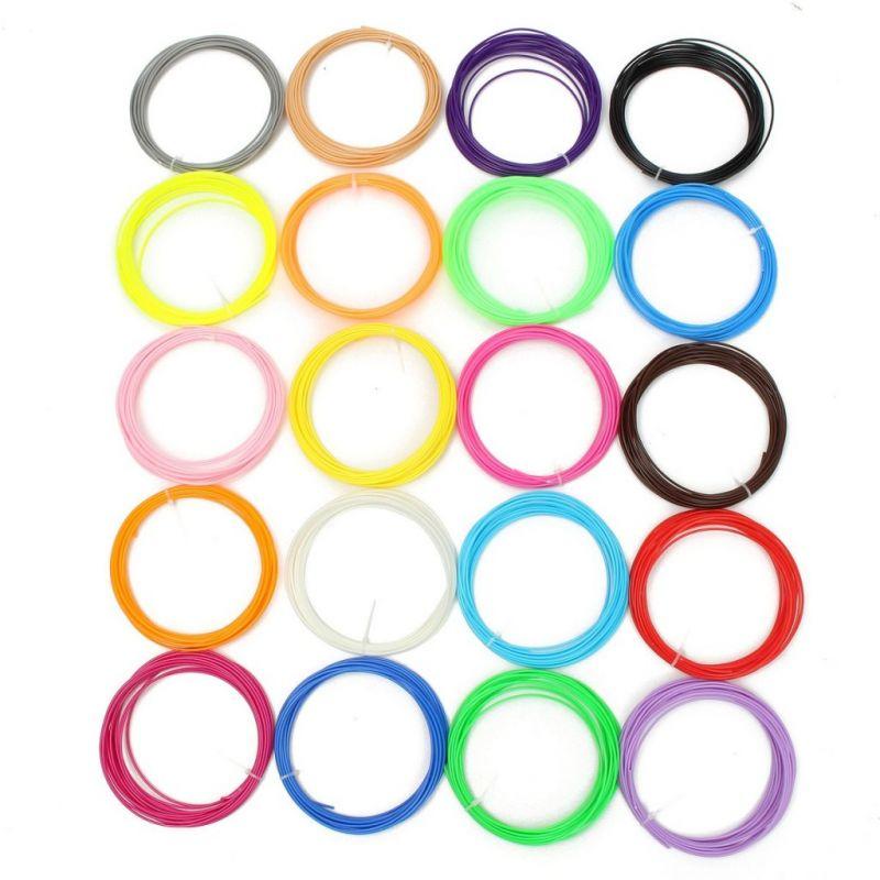 Набор пластика для 3D ручки 20 цветов