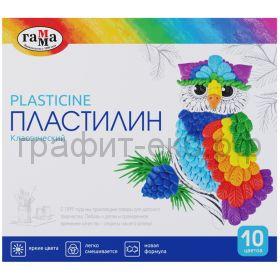 Пластилин 10цв.Гамма Классический со стеком 200г 281032