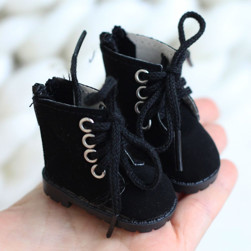Обувь для кукол 5,5 см - Сапожки на молнии чёрные