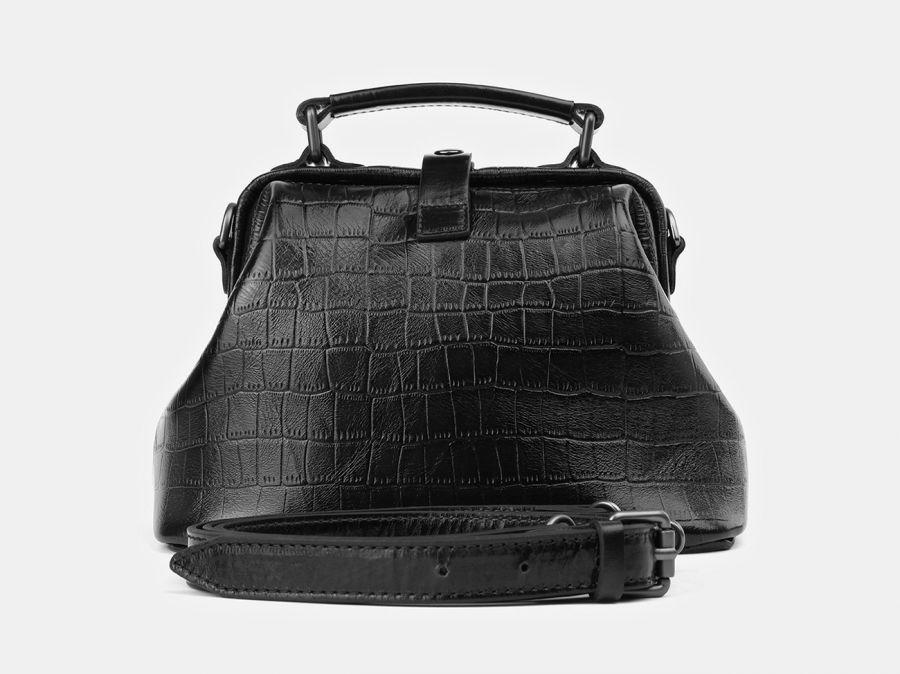 """Женская сумка-саквояж из натуральной кожи Alexander-TS """"W0013 Black Croco PG"""""""