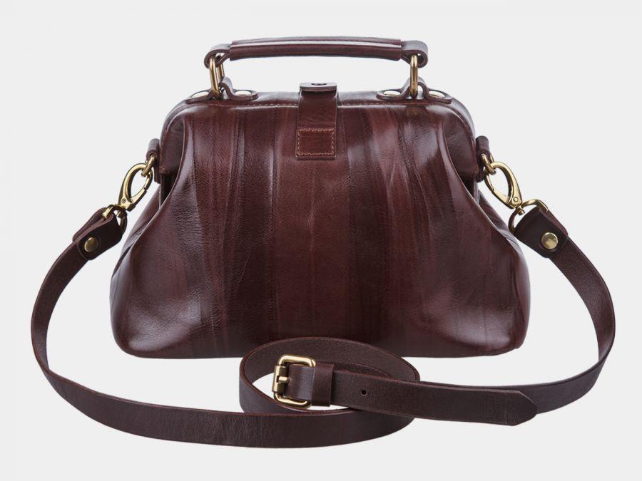 """Женская сумка-саквояж из натуральной кожи Alexander-TS """"W0013 Brown"""""""