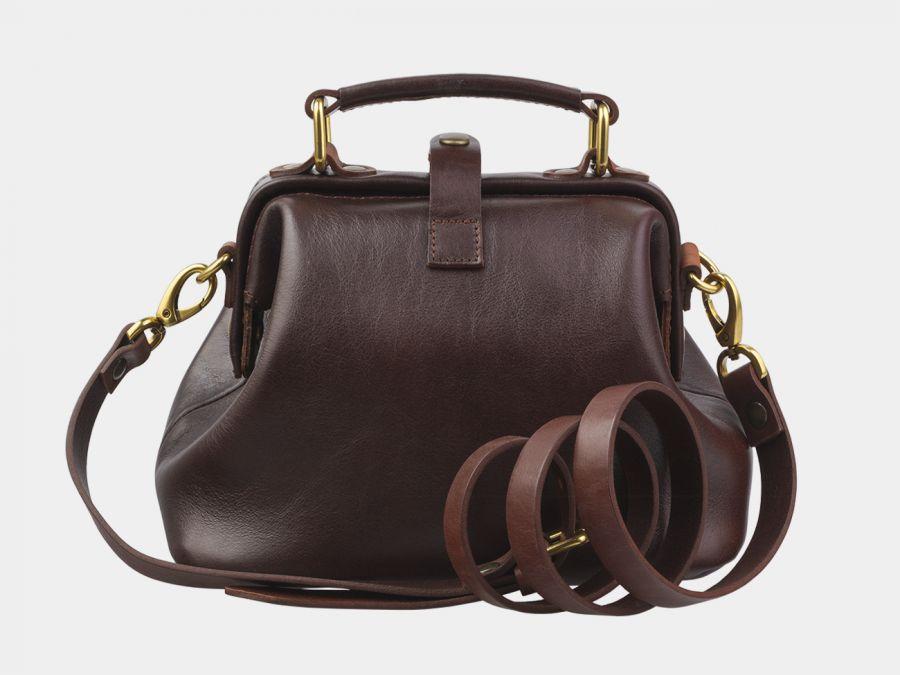 """Женская сумка-саквояж из натуральной кожи Alexander-TS """"W0013 Brown Cognac-P"""""""