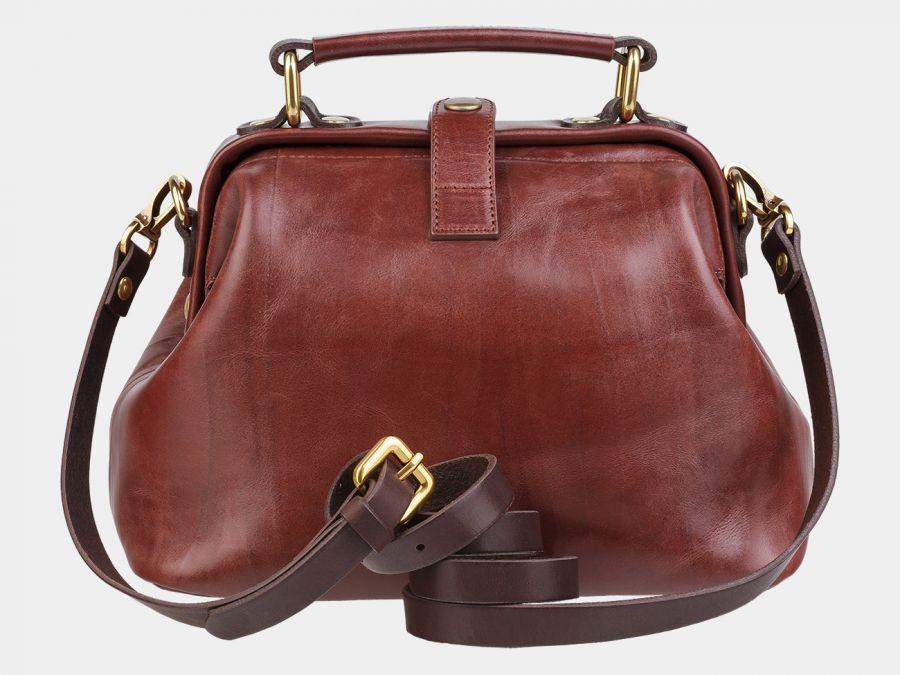 """Женская сумка-саквояж из натуральной кожи Alexander-TS """"W0013 Cognac Brown"""""""
