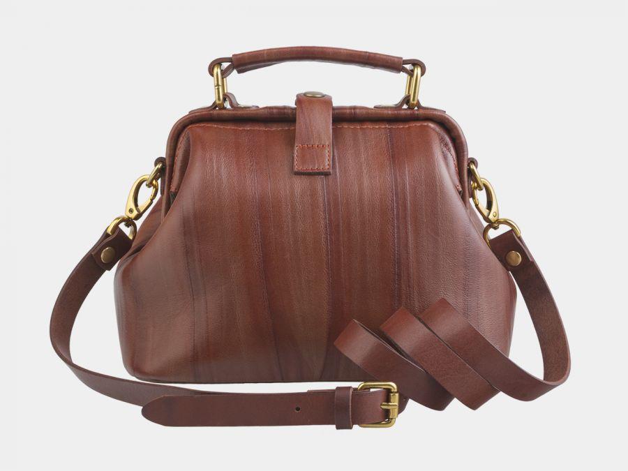 """Женская сумка-саквояж из натуральной кожи Alexander-TS """"W0013 Cognac-M"""""""