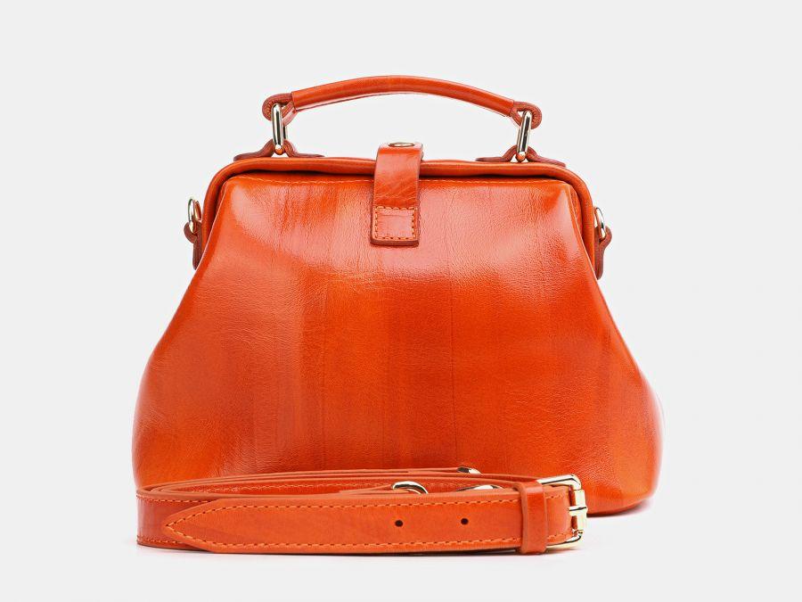 """Женская сумка-саквояж из натуральной кожи Alexander-TS """"W0013 Orange 2"""""""