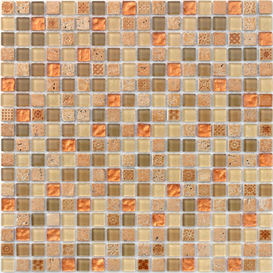 Мозаика LeeDo - Caramelle: Naturelle - Cozumel 15x15x4 мм