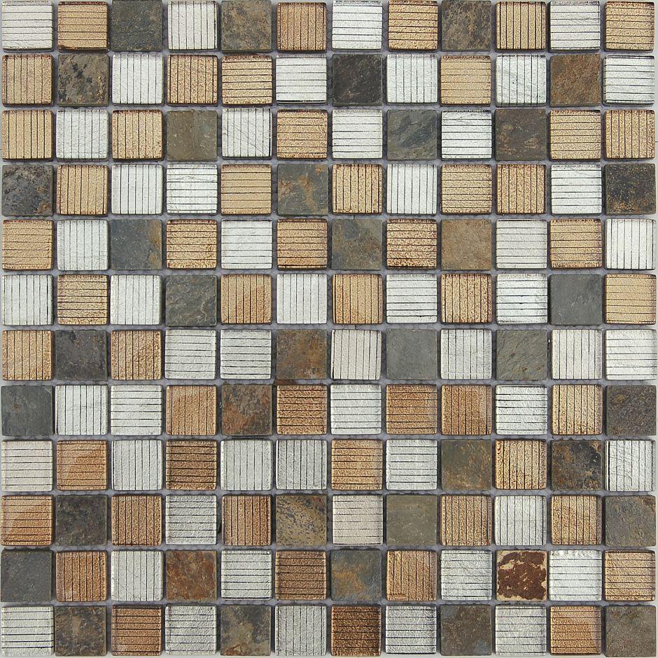 Мозаика LeeDo - Caramelle: Naturelle - Alcantara Ruggine 23х23х8 мм