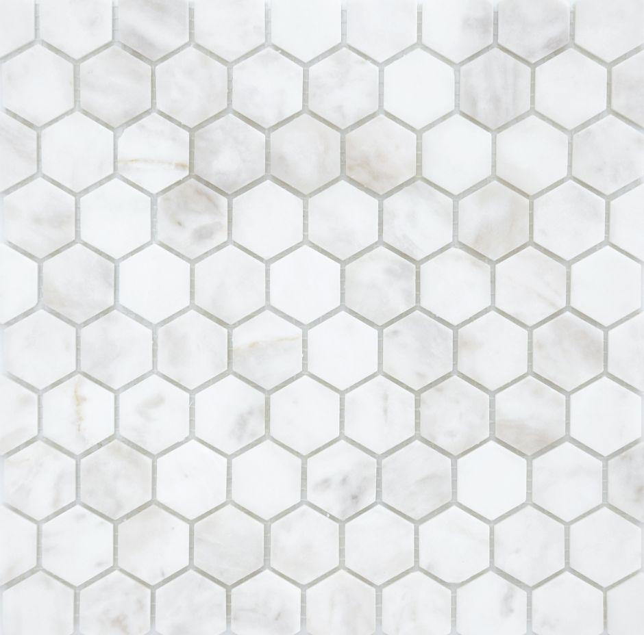 Мозаика LeeDo: Pietrine Hexagonal - Dolomiti Bianco матовая 18х30х6 мм