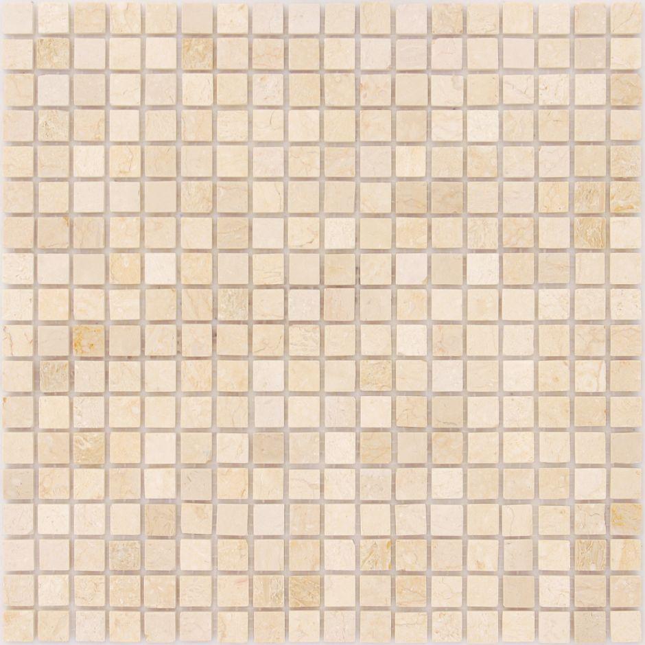 Мозаика LeeDo: LeeDo - Caramelle: Pietrine - Botticino полированная 15x15x4 мм