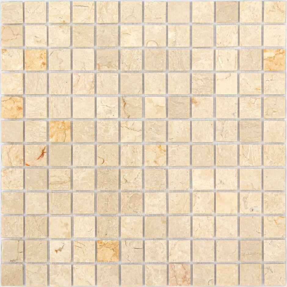 Мозаика LeeDo: LeeDo - Caramelle: Pietrine - Botticino полированная 23x23x4 мм
