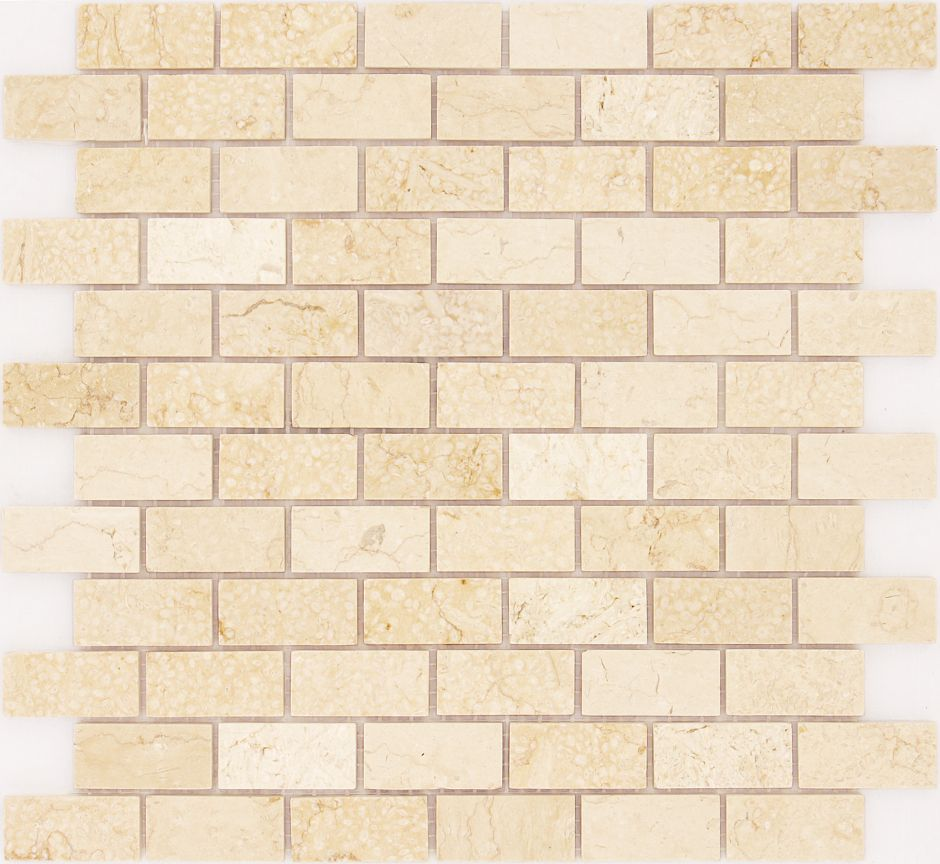 Мозаика LeeDo - Caramelle: Pietrine - Botticino полированная  23x48x4 мм