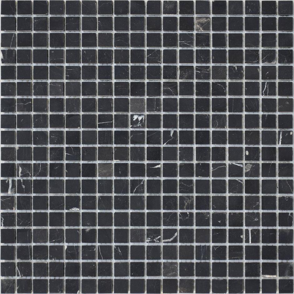 Мозаика LeeDo: Pietrine - Nero Oriente полированная 15x15x4 мм