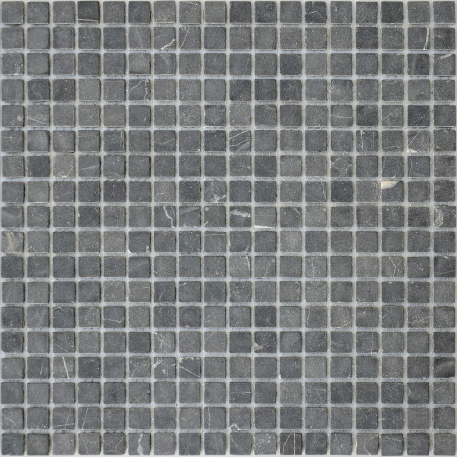 Мозаика LeeDo: Pietrine - Nero Oriente матовая 15x15x4 мм
