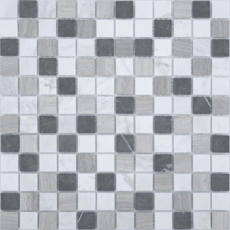 Мозаика LeeDo - Caramelle: Pietrine - Pietra Mix 4 матовая 23x23x4 мм