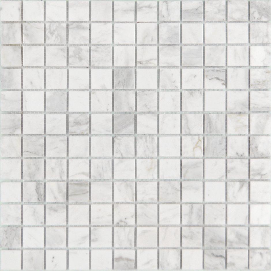 Мозаика LeeDo - Caramelle: Pietrine - Dolomiti Bianco полированная 23х23х7 мм
