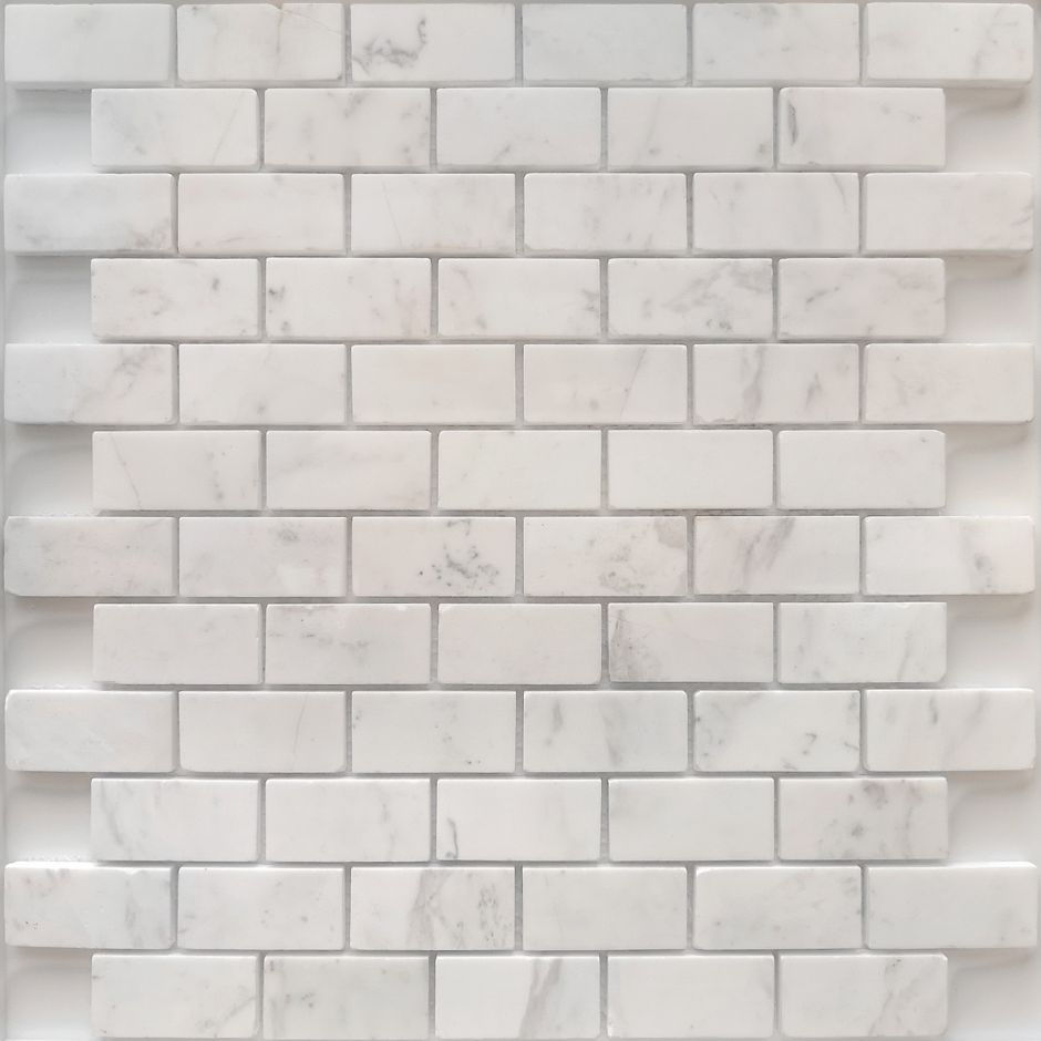 Мозаика LeeDo - Caramelle: Pietrine - Dolomiti Bianco полированная 23x48x7 мм