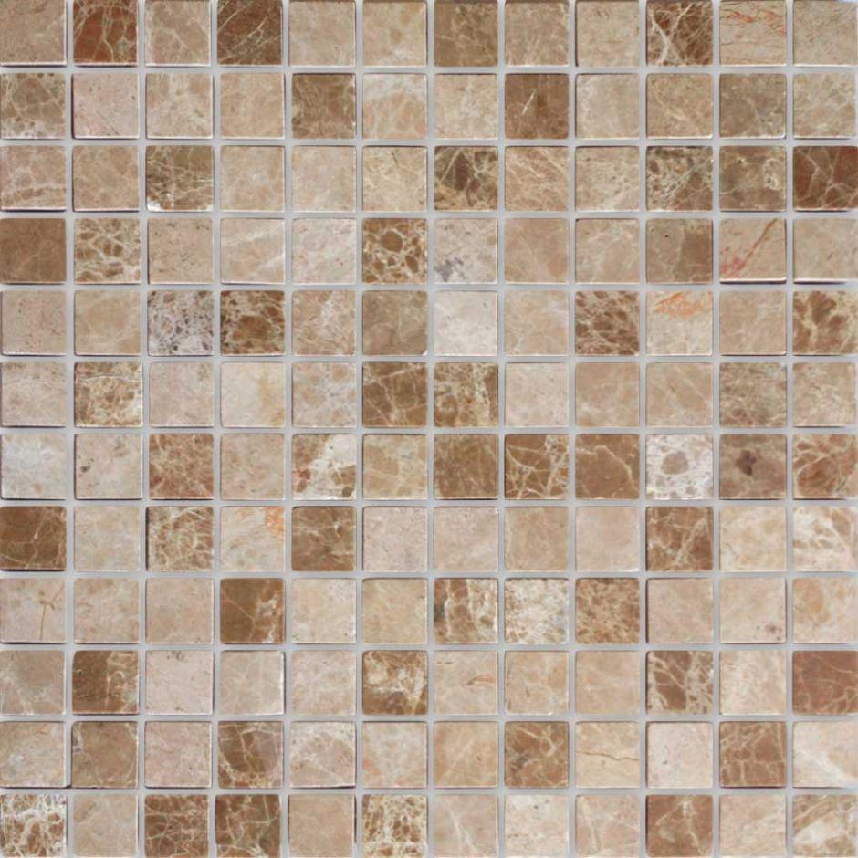 Мозаика LeeDo - Caramelle: Pietrine - Emperador Light полированная 23х23х7 мм