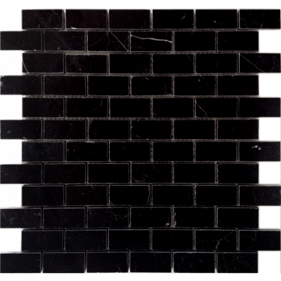 Мозаика LeeDo - Caramelle: Pietrine - Nero Oriente полированная 23x48x7 мм
