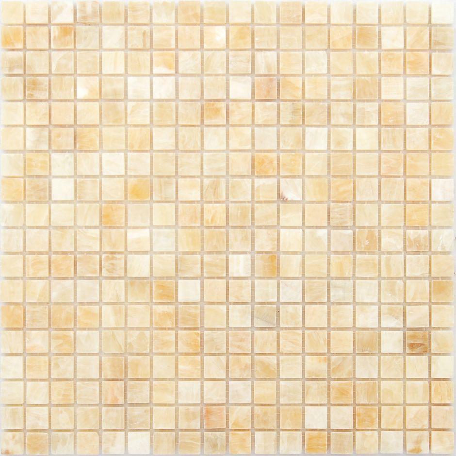 Мозаика LeeDo - Caramelle: Pietrine - Onice Beige полированная 15x15x7 мм