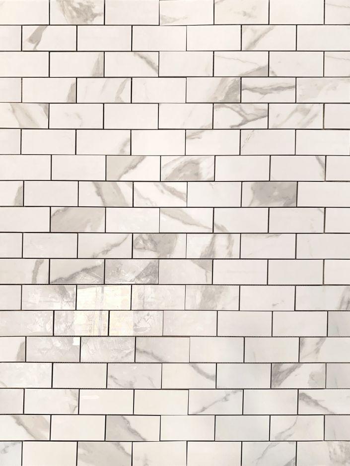 Мозаика LeeDo: Calacatta POL 48х98х10 мм, полированный керамогранит