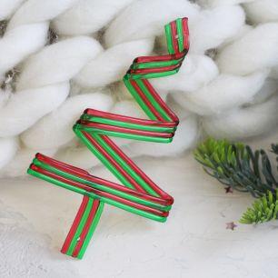Кукольный аксессуар - Карамельная ёлочка зелёная 12.5 см