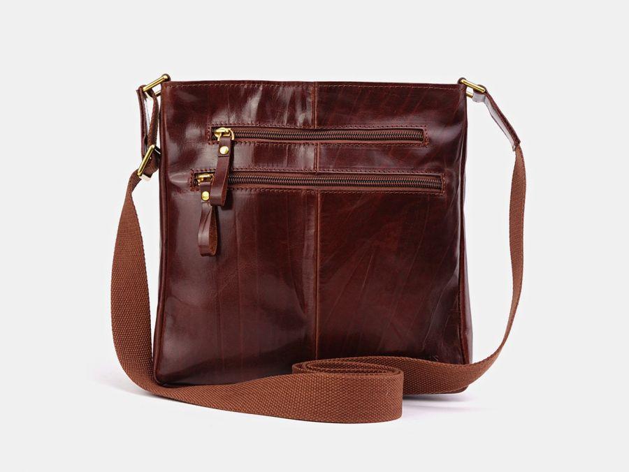 """Кожаная мужская сумка через плечо Alexander-TS """"P0005 Cognac"""""""