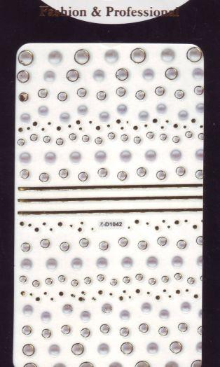 3D СТИКЕРЫ, наклейки объёмные для дизайна ногтей Z-D1042