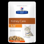 Hill's PD Feline k/d Renal Health with Chicken Диетические паучи при почечной недостаточности (курица) (85 г)