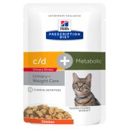 Hill's PD Feline Metabolic + Urinary StressДиетические паучи для коррекции веса и профилактики МКБ (85 г)