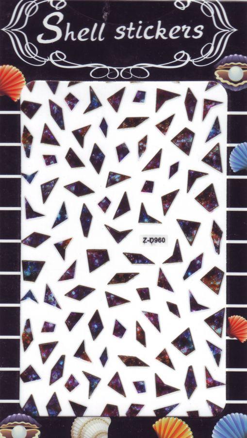 3D СТИКЕРЫ, наклейки объёмные для дизайна ногтей Z-D9560
