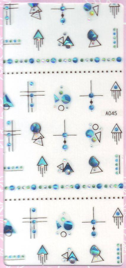 3D СТИКЕРЫ, наклейки объёмные для дизайна ногтей A045