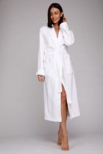 Белый махровый халат женский Naturel