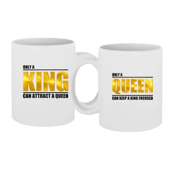 Парные чашки Только король и королева могут привлечь друг друга