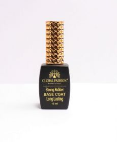 База для гель лака Global Fashion, STRONG rubber Long Lasting Base Coat 12 мл