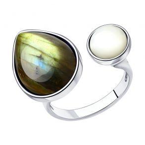 Кольцо из серебра с полудрагоценными вставками 83010074 SOKOLOV