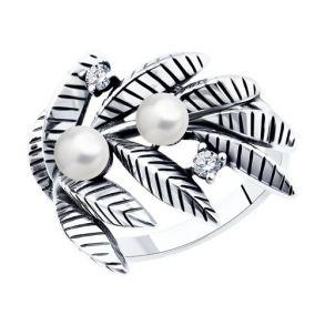 Кольцо из серебра 95010164 SOKOLOV