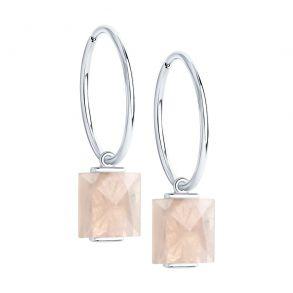 Серьги из серебра с кварцами 92022342 SOKOLOV