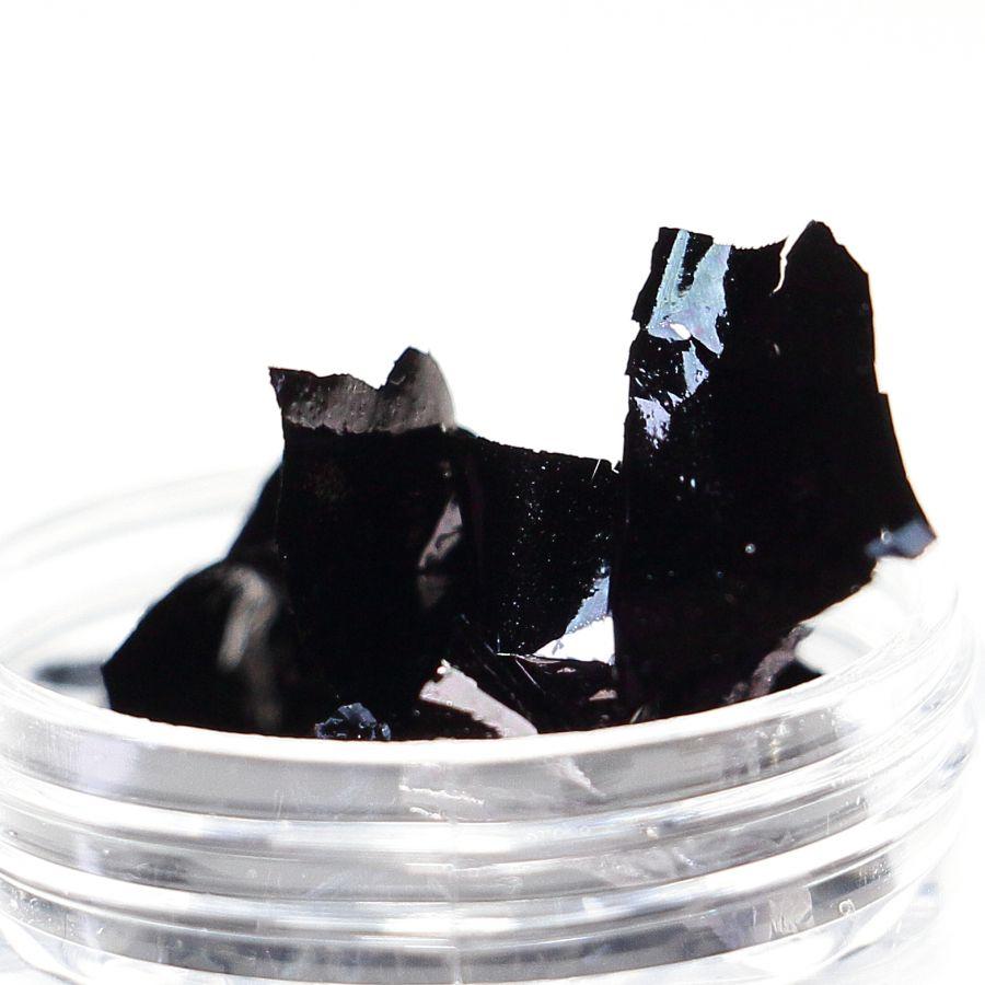 Фольга-слюда для дизайна ногтей чёрная