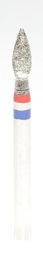 Бор алмазный чечевица, фреза красная/синяя 4938
