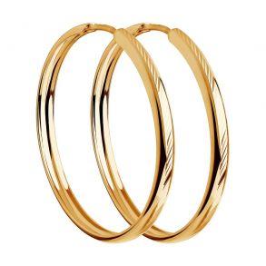 Серьги конго из золота с алмазной гранью 140092 SOKOLOV