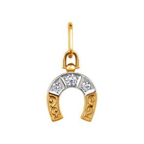 Подвеска из золота «Подкова» 030405 SOKOLOV