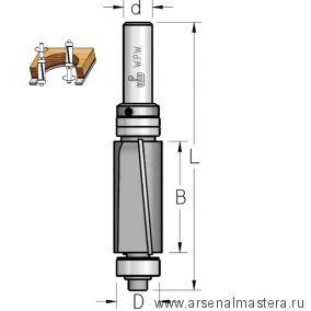 Фреза концевая обгонная для работы по шаблону D 19 B 32 Z 2 копир 2 подшипника верх и низ хвостовик 12 мм WPW FPS5192