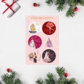 Набор открыток-мини «Волшебного года», 16 × 24 см, 6 шт