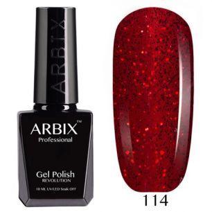 Гель лак  ARBIX № 114 Красная дорожка