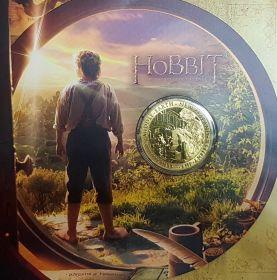 Новая Зеландия 1 доллар 2012 Хоббит: Нежданное путешествие, Бильбо Бэггинс блистер
