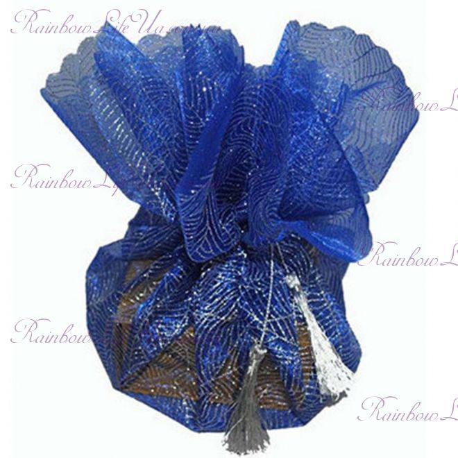 """Салфетка упаковочная из органзы """"Blue"""""""