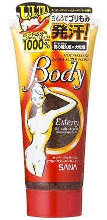 SANA Массажный гель-скраб для тела с морской солью. ESTENY HOT MASSAGE BODY ULTRA SUPER HARD , 240 гр.